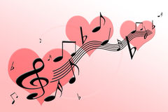 Music of love Royalty Free Stock Photography