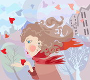 Music of love. Illustration about love, music, spring, pleasures Stock Photo