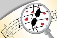 Music in love. The concept of relations of people: love as music Stock Photography