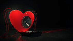 Music love. Design made in 3D Royalty Free Stock Photography