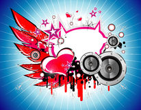 Music and Love background royalty free stock photos