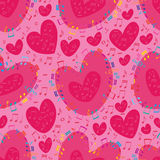 Music love colorful seamless pattern. This illustration is love music pink and colorful in seamless pattern Royalty Free Stock Photos