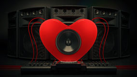 Music love. Design made in 3D Royalty Free Stock Image