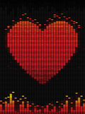 Music of love. Heart on equalizer for your design Stock Photos