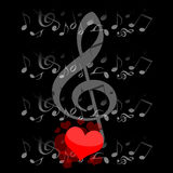 Music and love Stock Images