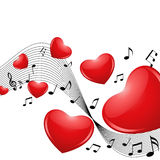 Music of Love Stock Images