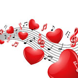 Music of love Stock Image