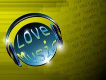 Music Lover Background. EPS 10 Vector Royalty Free Illustration