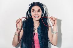 Music lover. Royalty Free Stock Image