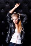 Music lover. Stock Image
