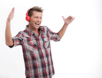 He is a music lover. Royalty Free Stock Photos