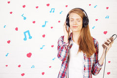 Music lover concept Stock Image