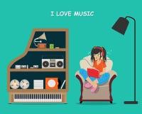 Music lover stock illustration