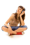 Music lover posing Royalty Free Stock Photos