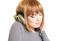 Music lover woman Stock Photo