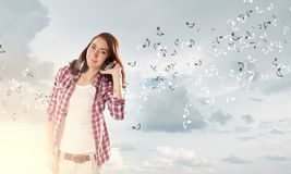 Music lover Royalty Free Stock Images