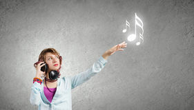 Music lover Stock Photo