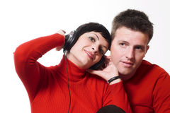 Music lovers Royalty Free Stock Images