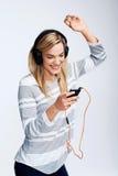 Music loving woman Stock Photo