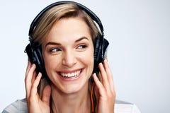 Music loving woman Stock Photography
