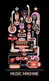 Music Machine vector illustration Stock Photo