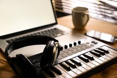 Music maker. Tools and create royalty free stock images