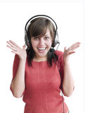 Music makes me crazy Royalty Free Stock Images
