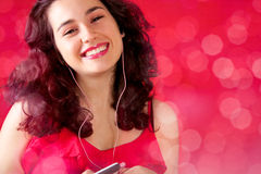 Music makes me happy Royalty Free Stock Photography