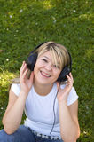 Music makes me happy Stock Photography