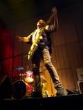 Music man. Razvan Moldovan from Partizan band performing live in a club Stock Photos
