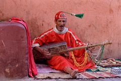 Music in Marrakech, Morocco royalty free stock photo