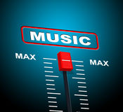 Music Max Represents Upper Limit And Audio Stock Image