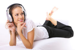 Music and me Royalty Free Stock Photography
