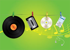 Music media illustration Stock Photography
