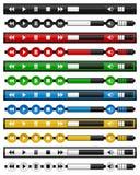 Music Media Player Horizontal Bar Set Royalty Free Stock Images