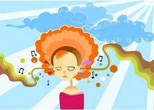 Music meditation Stock Photography