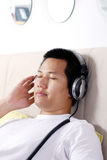 Music meditation Stock Photography