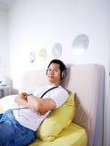 Music meditation Stock Images