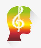 Music melody notes Stock Photos