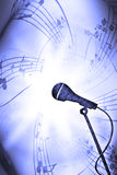 Music Micro. Music background with a microphone Royalty Free Stock Photo