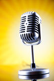 Music microphone, music saturated concept Stock Photo