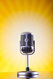 Music microphone, music saturated concept Royalty Free Stock Photos