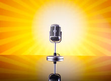 Music microphone, music saturated concept Royalty Free Stock Photo