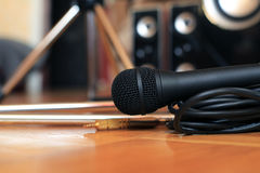 Music microphone Royalty Free Stock Photos