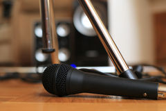 Music microphone Royalty Free Stock Images