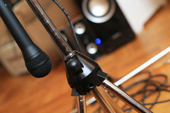 Music microphone Stock Photo