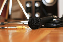 Music microphone Royalty Free Stock Photography