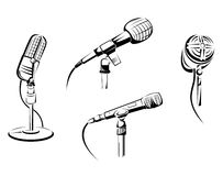 Music microphones Stock Photography
