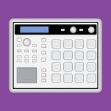 Music midi production center sampler sequencer drum machine icon. Music midi production center sampler sequencer drum machine Stock Photos