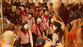 Music mime band in Carnival stock video
